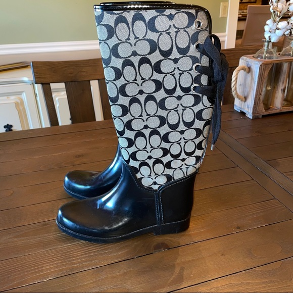 Coach Tristee lace up rain boots